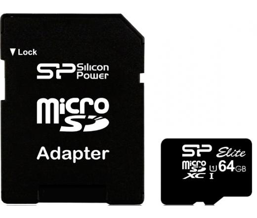 Silicon Power 64GB microSDXC UHS-I + adapterrel (SP064GBSTXBU1V10-SP)