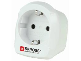 Skross Utazó Adapter Europe to UK Földelt (SKR1500230E)