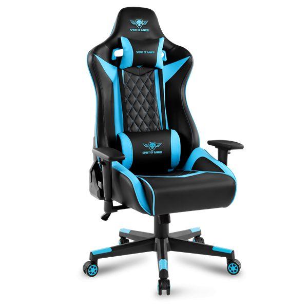 Spirit Of Gamer Crusader Gaming Chair Black/Blue (SOG-GCQBL)