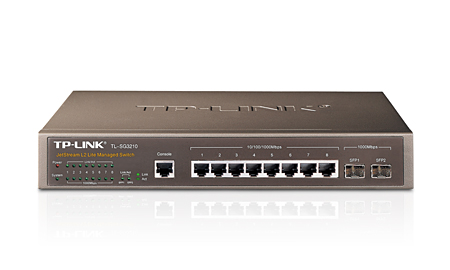 TP-Link TL-SG3210 8port Gigabit +2SFP L2 Managed switch (TL-SG3210)