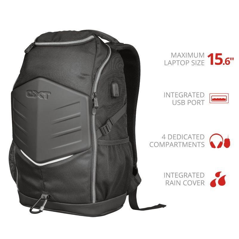"Trust GXT 1255 Outlaw 15,6"" Gaming Backpack Black (23240)"