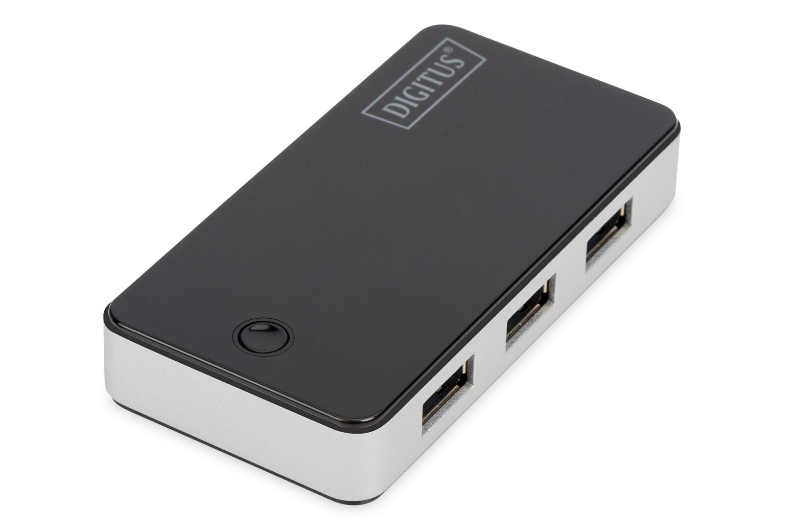 Digitus USB 3.0, 4-port HUB, 4xUSB A/F,1xUSB M/F (DA-70231)