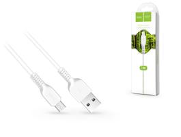 USB - micro USB adat- és töltõkábel 1 m-es vezetékkel - HOCO X20 Micro USB Cable - 2.4A - fehér