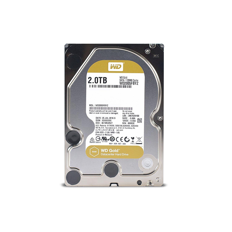 Western Digital 2TB 7200rpm SATA-600 128MB Gold WD2005FBYZ (WD2005FBYZ)
