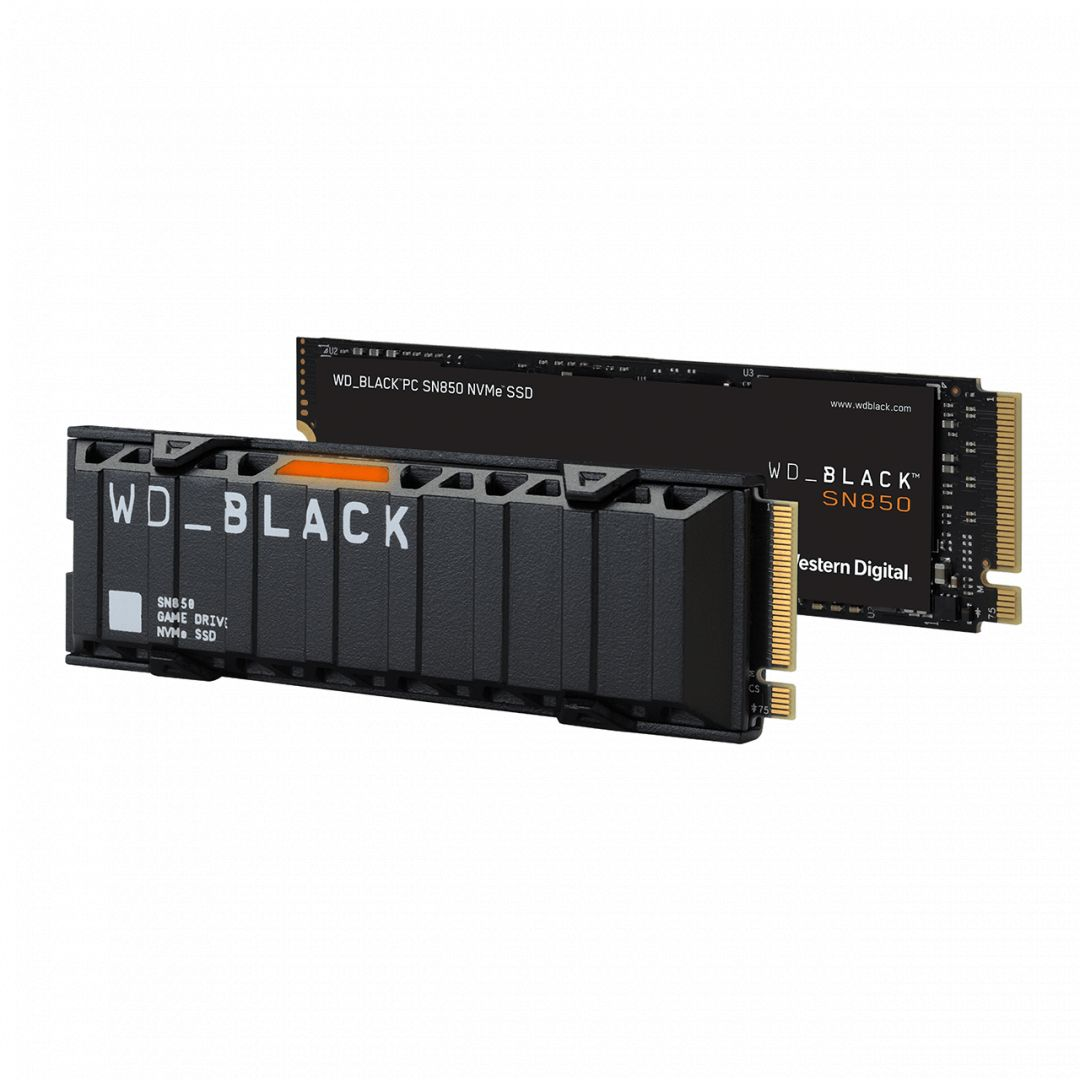 Western Digital 2TB M.2 2280 NVMe SN850 Without Heatsink Black WDS200T1X0E (WDS200T1X0E)