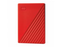 Western Digital 4TB 2,5 My Passport USB3.2 Red külsõ HDD (WDBYVG0040BRD)