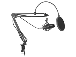Yenkee YMC 1030 STREAMER fekete asztali mikrofon