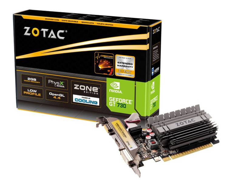 Zotac GeForce GT 730 2GB DDR3 Zone Edition (ZT-71113-20L)